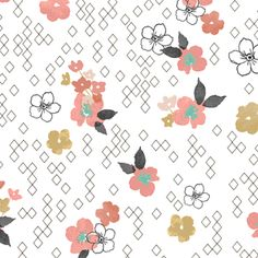 Hawthorne Threads - Fawn - Floral Glade in Tulip  Designer site who makes these fabricz.