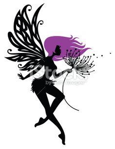 Fairy Magic Wish Royalty Free Stock Vector Art Illustration #tattoo #silhouette Lauren Burke Hey Hey Designs