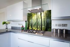 Forest with Sun Rays http://splashacrylic.com/product/forest-suns-rays-printed-glass-hob-splashback/