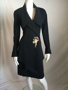Karl Lagerfeld 80's High Couture Fashion Asymmetrical by shopNOV