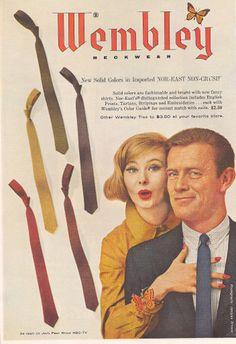 Vintage ads for men's clothing, 1960s