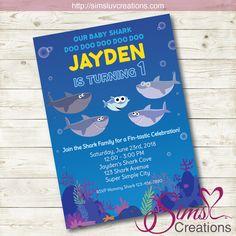 Super Simple Baby Shark Birthday Printable Invitation