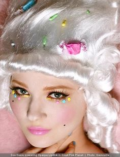 More Lime Crime love. Doe Deere makes a candy-covered Marie Antoinette.