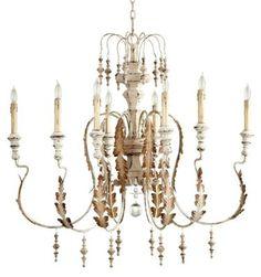 cyan motivo chandelier persian white