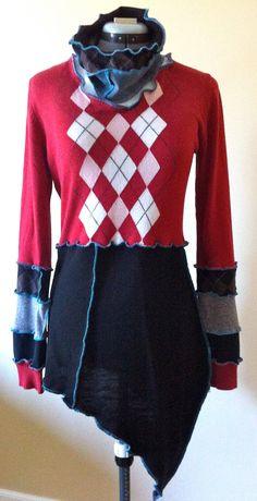 Handmade Black and Red sweater