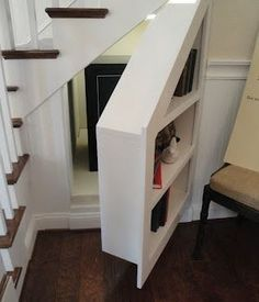7 stunning under stairs storage ideas: home decor, shelving ideas, stairs, storage ideas, why not use your under the stair storage for storage and a hidden panic room Hidden Spaces, Hidden Rooms In Houses, Hidden Panic Rooms, Small Spaces, Hidden Storage, Pantry Storage, Hidden Shelf, Extra Storage, Storage Shelving