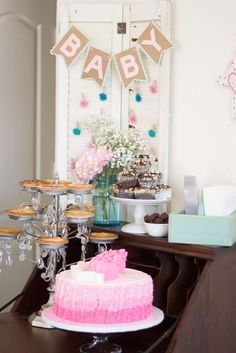 Shabby Chic Baby Shower Party Ideas | Photo 1 of 39