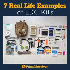 7 Real Life Examples of Every Day Carry Kits for when SHTF. #edc #shtf #emergencypreparedness #primalsurvivor #preppers #survivalists