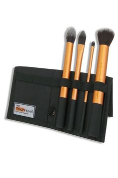 Many a makeup enthusiast has started his or her collection with this brush set. The kit comes with four synthetic, super-soft brushes, and can be used to apply just about any kind of makeup to your face, whether you're buffing in foundation or applying a subtle contour....
