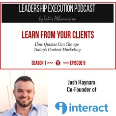 Have you listened to the new episode of Leadership Execution? If not listen here on how you can learn from your clients an interview with Josh Haynam co-founder of Interact. Listen to it here: http://ift.tt/2nPEQKi  #business #entrepreneur #entrepreneursh