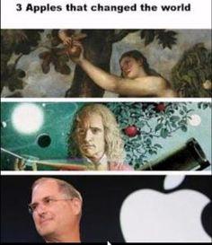 3 jabuke koje su promijenile svijet