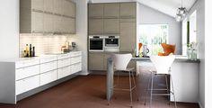 Harmoniaa ja graafisia linjoja. A la Carte -keittiöt, ovimallit Neve ja Brace. | #keittiö #kitchen