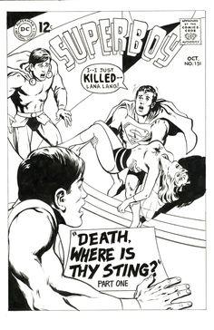 Legion of Superheroes Homage to Superboy Issue 151 Comic Art