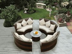 Beautiful Outdoor Patio Wicker Furniture Deep Seating 5pc Sofa Set New