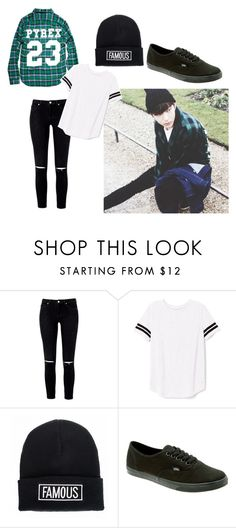 """""""Vixx Leo in Paris"""" by kpopismystyle ❤ liked on Polyvore featuring Timberland, Victoria's Secret PINK, Quiz and Vans"""