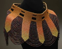 Delica and seed bead woven collar by Rashima Williams. This must have cost an arm and a leg!
