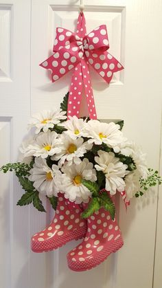 Try a fun project from Pinterest to celebrate Spring. Boots filled with flowers. by marlas