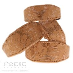 Gold Couture Handmade Leather Hound Collars