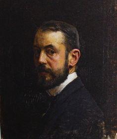 José Moreno Carbonero  autoretrato pintor n.en Málaga en 1860+1942 en Madrid