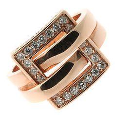 Boucheron Diamond Rose Gold Cocktail Ring
