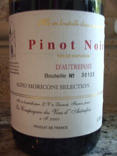 D'autrefois Pinot Noir. Another great wine for under $10.