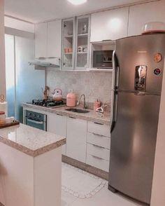 Kitchen Room Design, Interior Design Kitchen, Kitchen Decor, Home Design Decor, Home Room Design, Home Decor Furniture, Kitchen Furniture, Apartment Kitchen, Kitchen Remodel