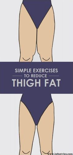 12 Simple Exercises to Reduce Thigh Fat Everyone is predisposed to carry body fat a little differently. Some of us are more pear-shaped while others may be more top-heavy or have an athletic build. And while we think voluptuous thighs and hips are beautiful we also know that sometimes your goal is to slim down in certain areas. Unfortunately theres a lot