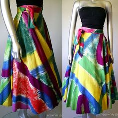 1950's Mexican Hand Painted Collectible Circle Skirt