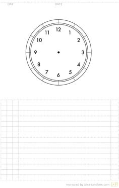 Blank Clock Page - circular day-planner! Starting this to-mor-row