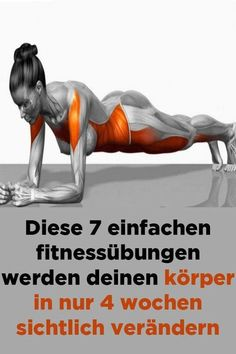 Health Discover These 7 simple fitness exercises will make your body visible in just 4 weeks. - These 7 simple fitness exercises will visibly change your body in just 4 weeks - Fitness Workouts, Fitness Motivation, Hip Workout, Easy Workouts, Yoga Fitness, Easy Fitness, Wellness Fitness, Health Fitness, Transformation Fitness