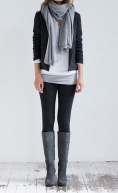 Latest Fashion Trends – This casual outfit is perfect for spring break or the Fall. 57 Of The Best Outfits Trending Now – Latest Fashion Trends – This casual outfit is perfect for spring break or the Fall. Mode Outfits, Casual Outfits, Fashion Outfits, Outfits With Grey Boots, Grey Boots Outfit, Black Boots, Dress Boots, Fashion Boots, Dress Casual