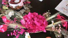 Barquinha de flores secas tam. P