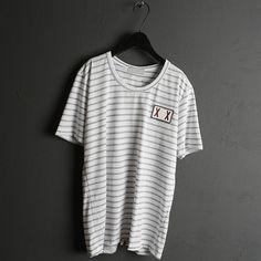 Striped .ct Mixed Regular Round N. Tee 스트라이프 코튼믹스 레귤러 라운드넥티 #moncler #style #stripe #brand #summer
