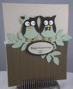 Anniversary Owls by Carol Payne - Cards and Paper Crafts at Splitcoaststampers