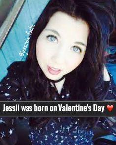 jessii's b-day is on valentines day...mine too^^