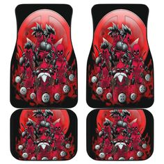 Dragon Ball X Deadpool Front And Back Car Mats (Set Of 4) Deadpool Car, Deadpool Funny, Car Mats, Car Floor Mats, Car Accessories, Dragon Ball, Birthday Gifts, Best Gifts, Flooring