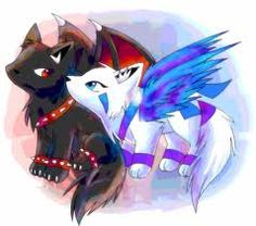 wolf with wings cute art Cute Wolf Drawings, Kawaii Drawings, Cute Fantasy Creatures, Mythical Creatures, Anime Chibi, Kawaii Anime, Anime Animals, Cute Animals, Anime Wolf Drawing