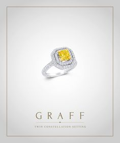 An evolution of the Graff Constellation setting featuring two expertly crafted pavé halos enveloping a centre stone.