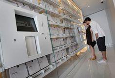 luxury vending machine by mari balestrazzi