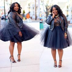 Wish I could pull this off! I just might try! Black Tutu Skirt .... Plus Size 1X-3X #Vendor #ALine