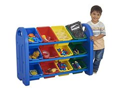 Toy Storage Organizer with 12 Bins Organize and decorate your classroom or playroom with this functional storage solution from Sturdy
