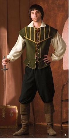 Custom Made Medieval Renaissance Mens Doublet by ThisandThatPark, $215.00