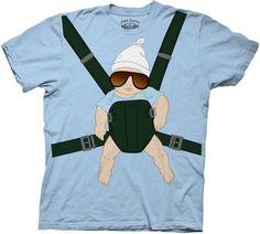 The Hangover Alan Baby Carrier Light Blue T-shirt  $18.95 #tvstoreonlinewishlist