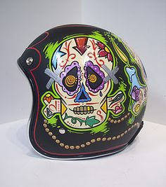 This is a crazy skull helmet. Totally stylin for James!