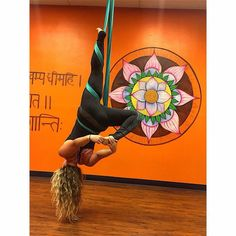 Inverted Dancer pose by Dharma teacher Haley
