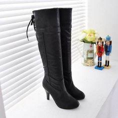 a1e0df3af bota folding joelho designer pu couro inverno quente