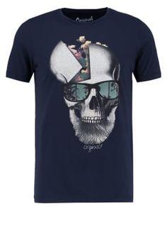 Jack & Jones JORPIPE SLIM FIT - T-shirt print - total eclipse - Zalando.be