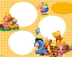 Printable winnie the pooh photo frames kids free fun page