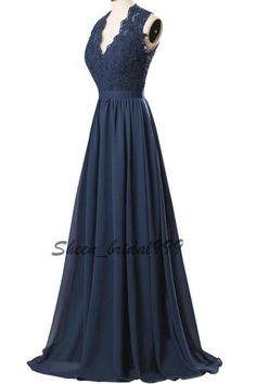 Stock New Long Lace Formal Bridesmaid Evening Prom Ball Cocktail Dress Size 2-26