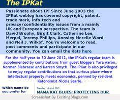 The IPKat - Click to visit blog:  http://1.33x.us/tRhUsT